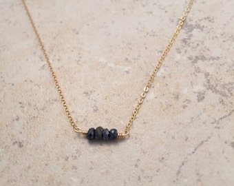 Deep Blue spinel necklace