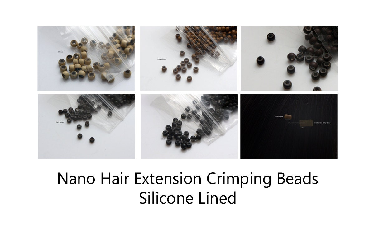 Nano micro rings hair extension crimp beads silicone lined hair 500 pmusecretfo Gallery