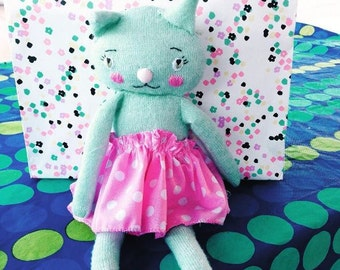 12 Kitty dolls club 12 cats in all new kitty cat to love each month  boys or girls toy cat stuffed cat kitty handmade