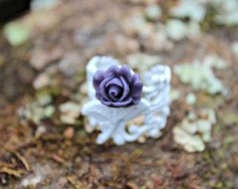 Chico Purple Rose Ring