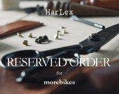Reserved for morebikes - Express - Personalized Leather iPad Mini Sleeve / Journal Cover - Hand Stitched by Harlex