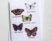 Blank Card - Butterflies Collection