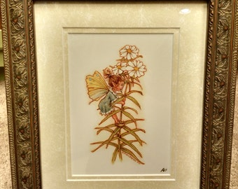 Little Daisy Dukes Signed Print in an 8x10 Decorative Browne and Gold Frame