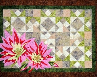 KIT: Montana Wildflower Bitterroot Fusible Applique Wall Quilt