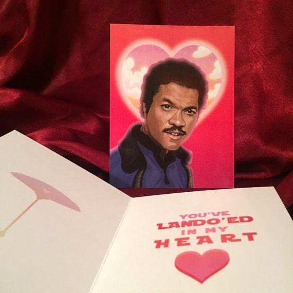 STAR WARS Valentines Day Card with Lando Calrissian