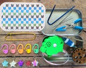 Green Stitches - The Knitter's Tool Tin
