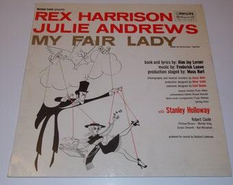 1956 - Original 1st Pressing! My Fair Lady - Rex Harrison, Julie Andrews - Vinyl Record Album - Stage Musical