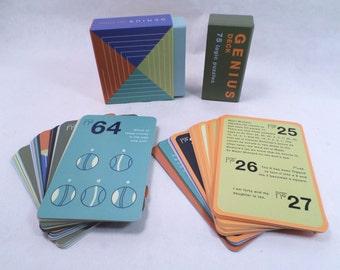 Genius Deck Logic Puzzles Card Game Vintage 1996