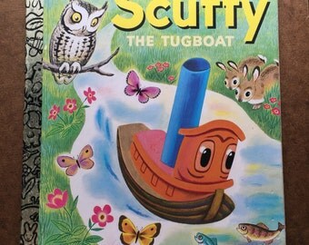 Scuffy The Tugboat Vintage Little Golden Book