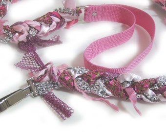 Dog Leash | Matching | Custom | Fancy Shmancy | Leashes | Custom Matching Dog Leashes |  Pink