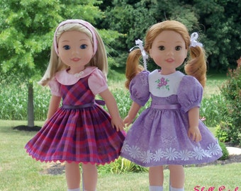 "WELLIE WISHER PRINTED Sewing Pattern: Wellie Best Friends/ Sewing Pattern for 14"" American Girl  Wellie Wishers"