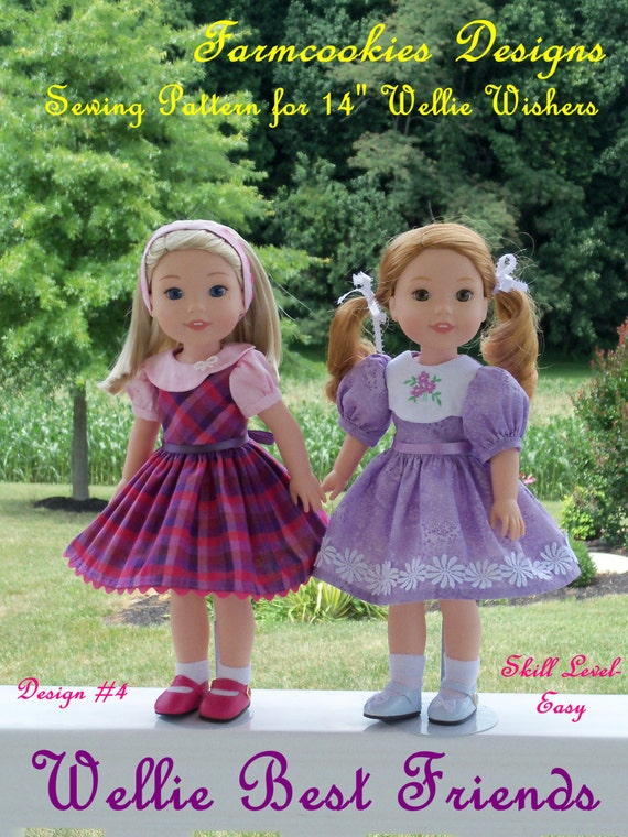 "PDF Sewing Pattern: Wellie Best Friends/ Sewing Pattern for 14"" American Girl  Wellie Wishers®"