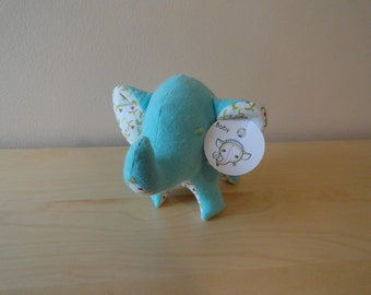Baby Safe Tiny Stuffed Elephant- Teal