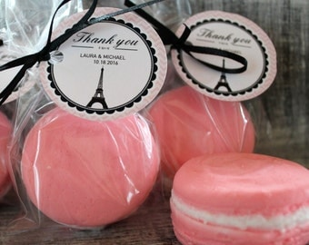 10 French Macaroon Cookie Party Favor Soaps:  wedding favors, birthday favors, bridal shower favors, baby shower favors, paris favors