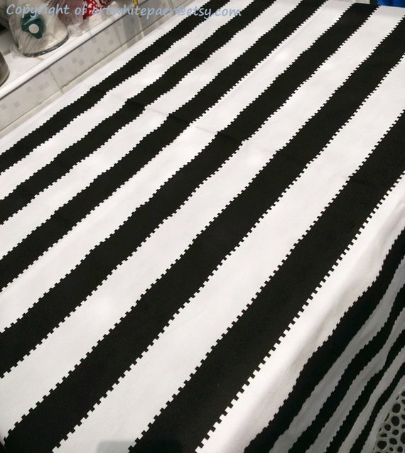 Tablecloth Stripe Black White Rectangle Square Round Dinner,Party ...