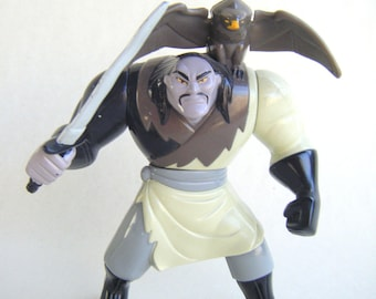 Vintage Shan Yu Toy Disney Villain Action Figure Happy Meal Fast Food McDonalds Cake Topper Collectible Mulan Doll Falcon