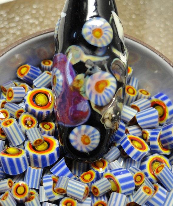 Basket Weaving Supplies Sacramento : Murrini chips daisy lampwork supplies millefiore coe