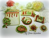 Graphic 45 The Night Before Christmas Handmade Paper Ornaments, Embellishments Tags for Scrapbook Layouts Cards Mini Albums and Paper Crafts
