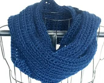 Crochet Pattern Indigo Falls Infinity Scarf PDF 192