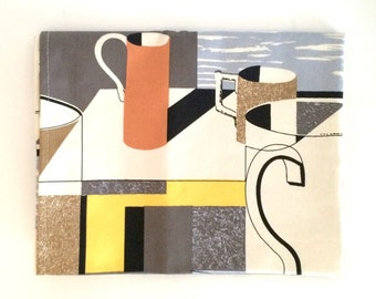 V&A Tea Towel John Maltby Ceramics Style Mugs Pattern