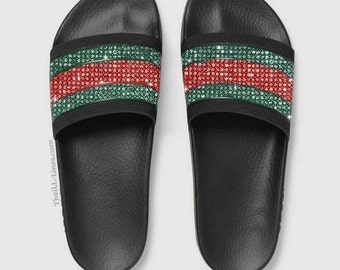 GG Supreme Tian Canvas ,Gucci women's slide sandals …
