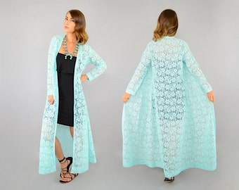 60's Bohemian Lace Duster