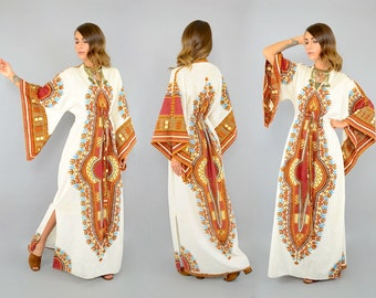 70's Angel Sleeve DASHIKI Dress