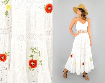 White Eyelet EMBROIDERED Skirt