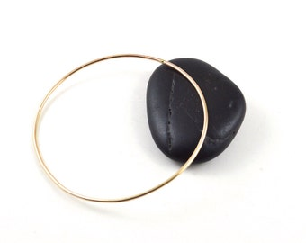 Skinny gold bangle -  gold filled bangle - ultra thin gold bangle - stackable bangle - gift for her under25 - minimalist jewelry