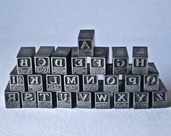 Decorative Letterpress Choose You Initial for Printing Stamping and Decot