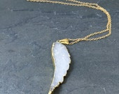 RESERVED for Kelli: Druzy pendant with gold chain