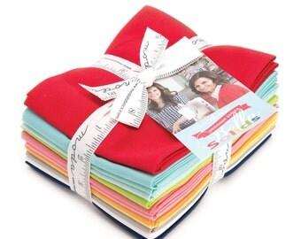 Moda Designer Select Bella Colors Solids Fat Quarter Bundle by Bonnie and Camille-(12) Fat Quarters  55090AB