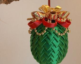 Green Ribbon Ornament