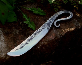 Simple Hand Forged Viking blacksmith's knife, made to order