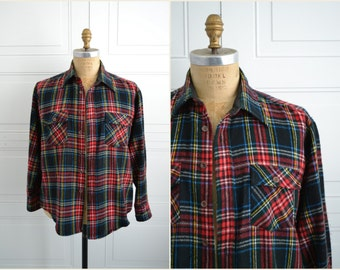 1970s Kingsport Red Flannel Shirt