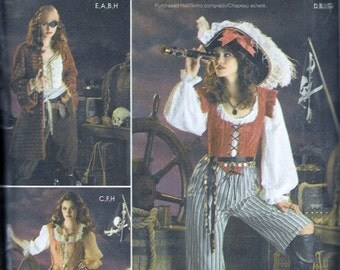 Simplicity 3677 Misses' Buccaneer / Pirate Costumes Sewing Pattern UNCUT Plus Size 14, 16, 18 and 20