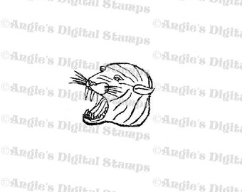 Tiger Head Digital Stamp Image