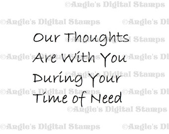 Our Thoughts Quote Digital Stamp Image