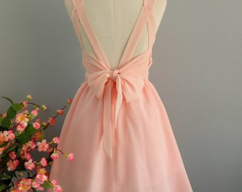 Party V Backless Dress Pink Blush Prom Party Dress Pink Blush Wedding Bridesmaid Dress Pink Cocktail Dress Pink Backless Dress XS-XL