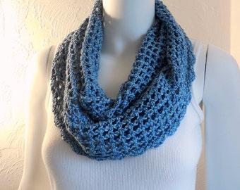 True blue denim cotton cowl