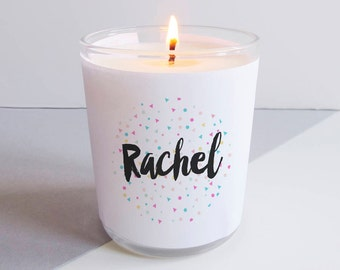 Personalised Name Confetti Candle