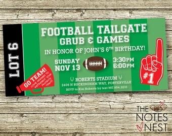 Football Tailgate Birthday Invitation - Custom Printable