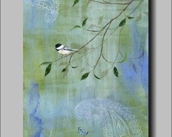 Perch High by Kimberly Fox...FINE ART PRINT on Canvas or Paper...kids room...nursery art
