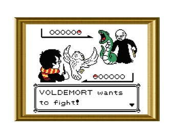 Harry Potter Pokemon Cross Stitch Crossover Pattern PDF Instant Download