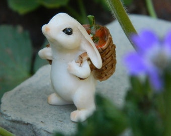Fairy Garden Bunny Miniature Bunny Fairy Garden Accessory Miniature Rabbit miniature garden accessory