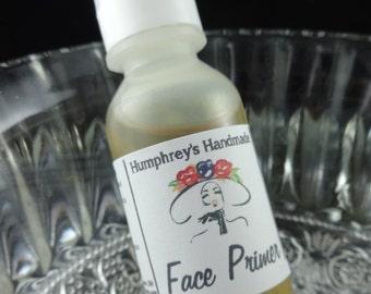 ARGAN FACE PRIMER, .5 oz Nut Free Vegan All Natural Moisturizer, Fragrance Free Night Moisture, Pumpkin Seed Oil Apricot Oil, Makeup Primer
