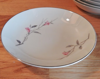 Vintage Cherry Blossom Fine China Small Fruit/Dessert Coupe/Bowl