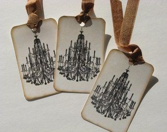 Victorian Chandelier Hang Tags Set of 6