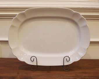 Antique English White Ironstone Platter, Royal Stone China, Wedgwood & Co.