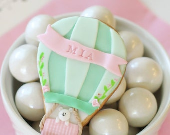12 Hot air balloon cookies